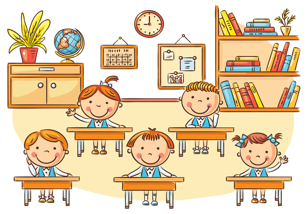 graphic library library Classroom students clipart. Student cartoon clip art