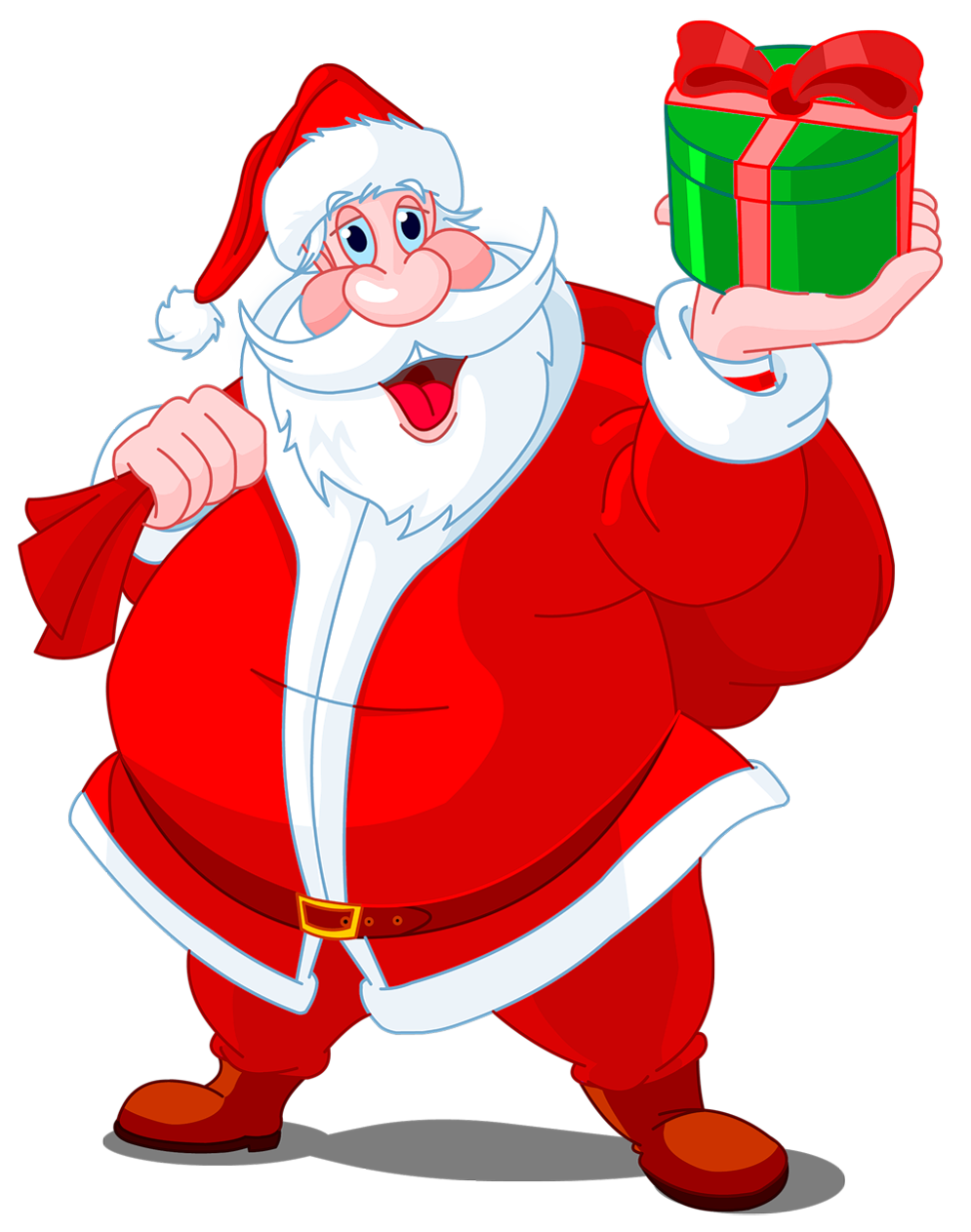 graphic transparent stock Transparent santa with green. Claus clipart