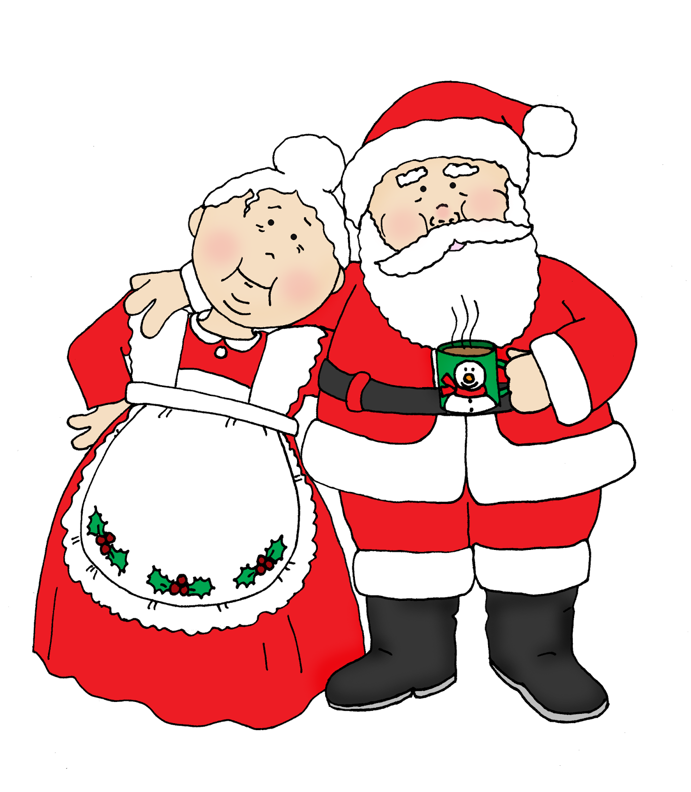 clip black and white stock And claus png . Transparent santa mrs