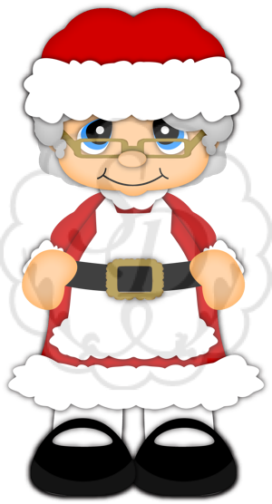freeuse  collection of clipart. Transparent santa mrs