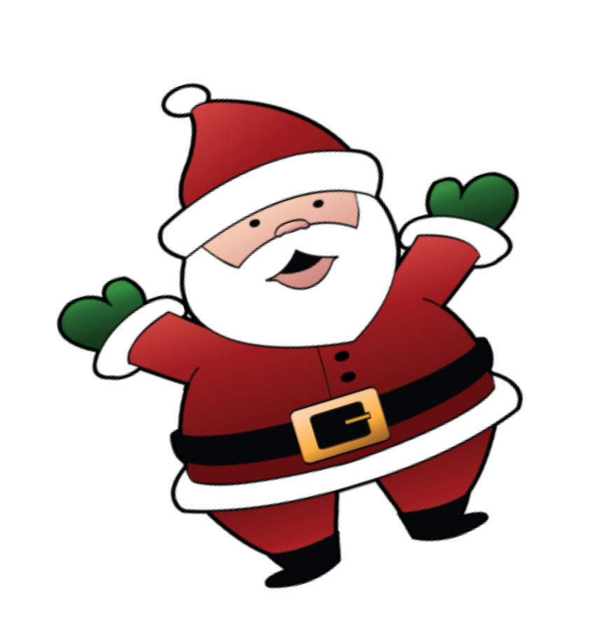 vector transparent Beard clipart xmas. Santa in his sleigh.