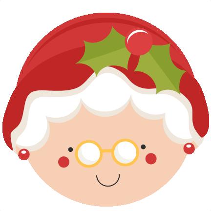 vector stock Christmas mrs svg scrapbook. Claus clipart cute.