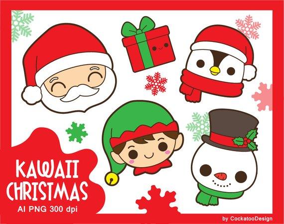 png freeuse stock Kawaii santa christmas . Claus clipart cute.