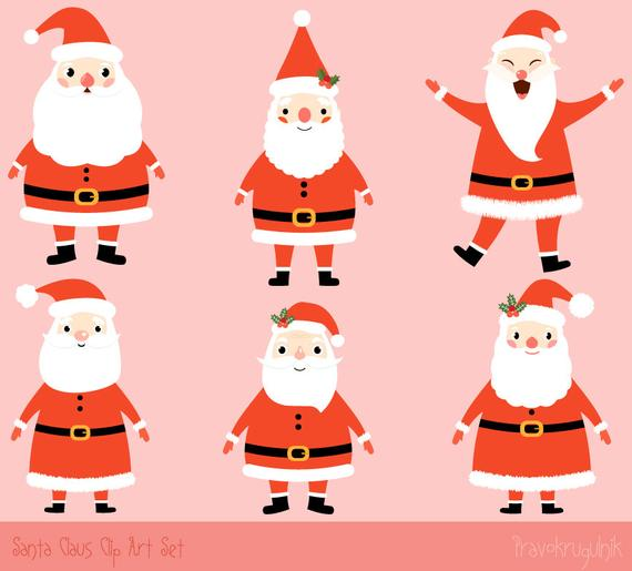 transparent download Claus clipart cute. Santa kawaii clip art.