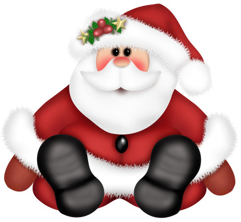 vector transparent Claus clipart cute. Gallery free picture christmas.