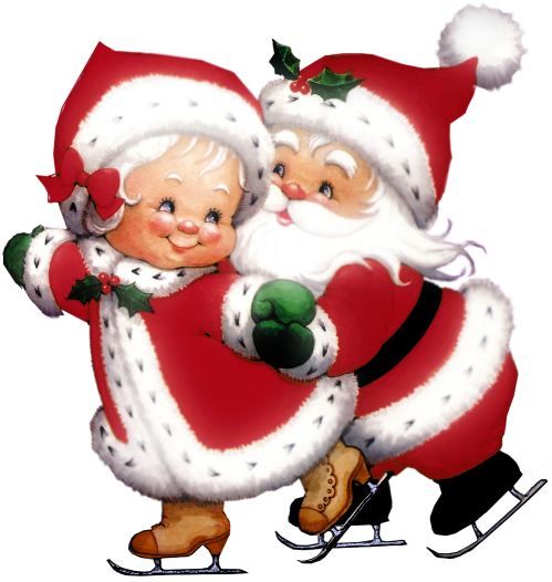 clipart library library Transparent santa mrs. Mr and claus clipart