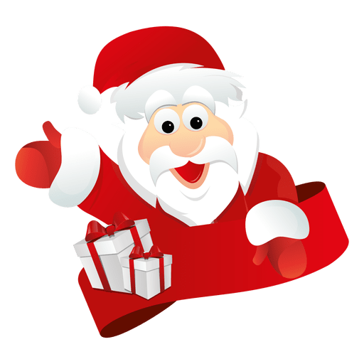 picture library library Santa Claus Waiving Hand PNG Transparent Clipart Image