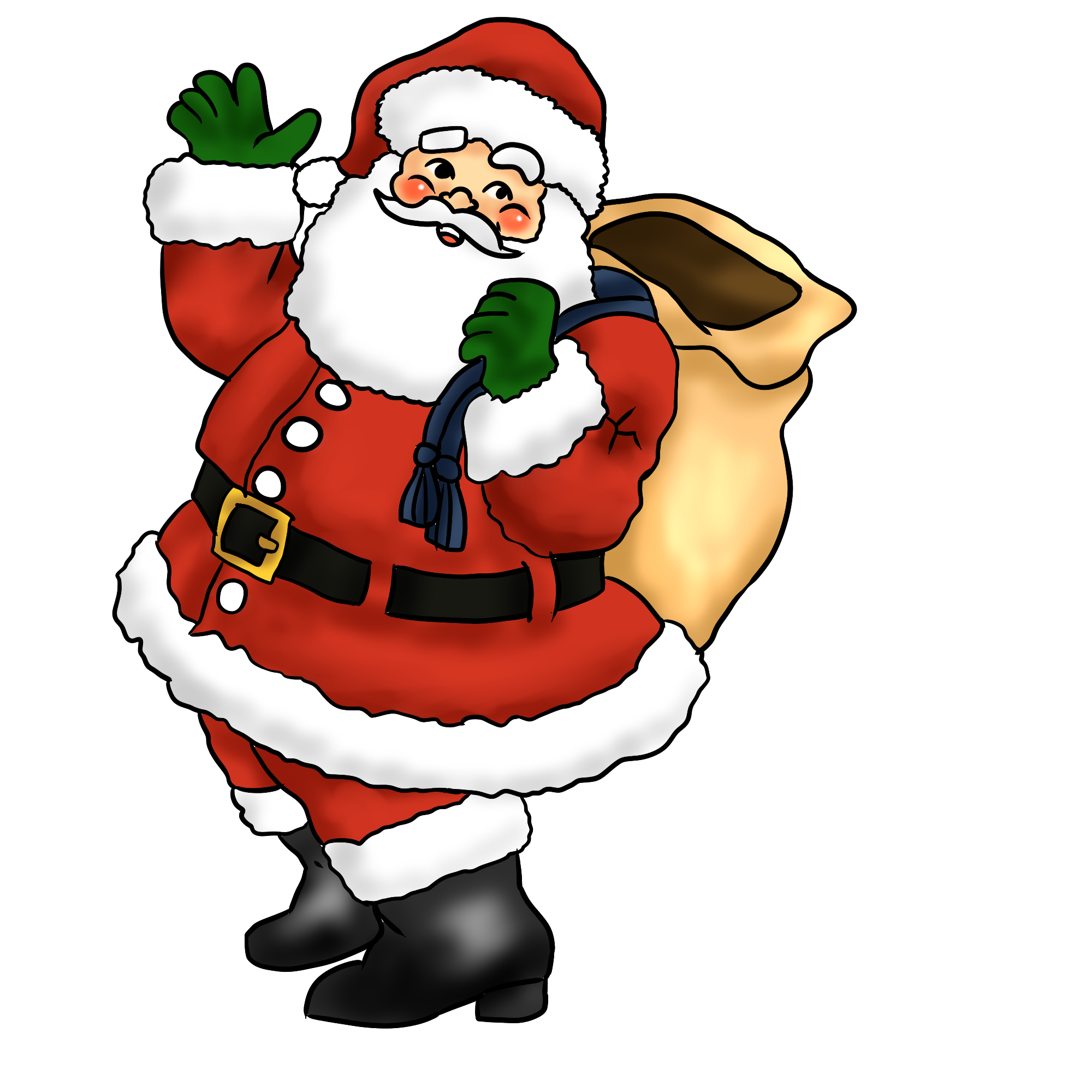 download Christmas santa . Claus clipart.