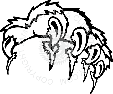 graphic black and white stock Tiger Claw Drawing at GetDrawings