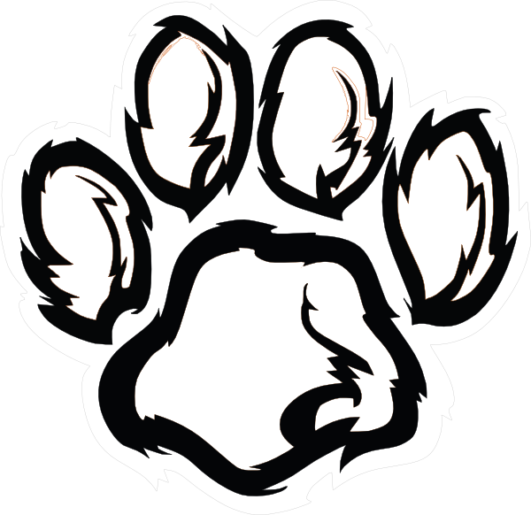 picture transparent library Paw Print Drawing at GetDrawings