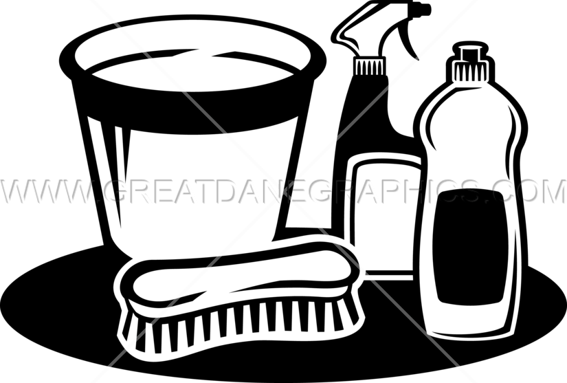 picture free Cleaning clipart black and white. Supplies production ready artwork.