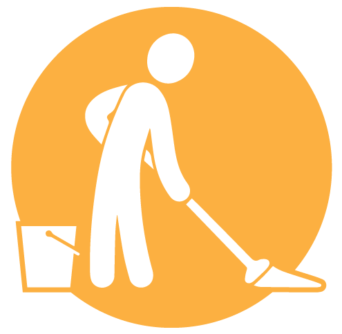 royalty free library Clean clipart home management. Port fairy accommodation holiday.