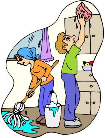 graphic Cleaner clipart sweeping. Kitchen clean free on.