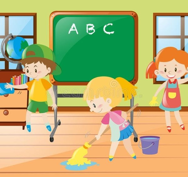 clipart stock Station . Clean up classroom clipart.