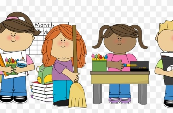 jpg freeuse library Clean up classroom clipart. Student helper clip art.