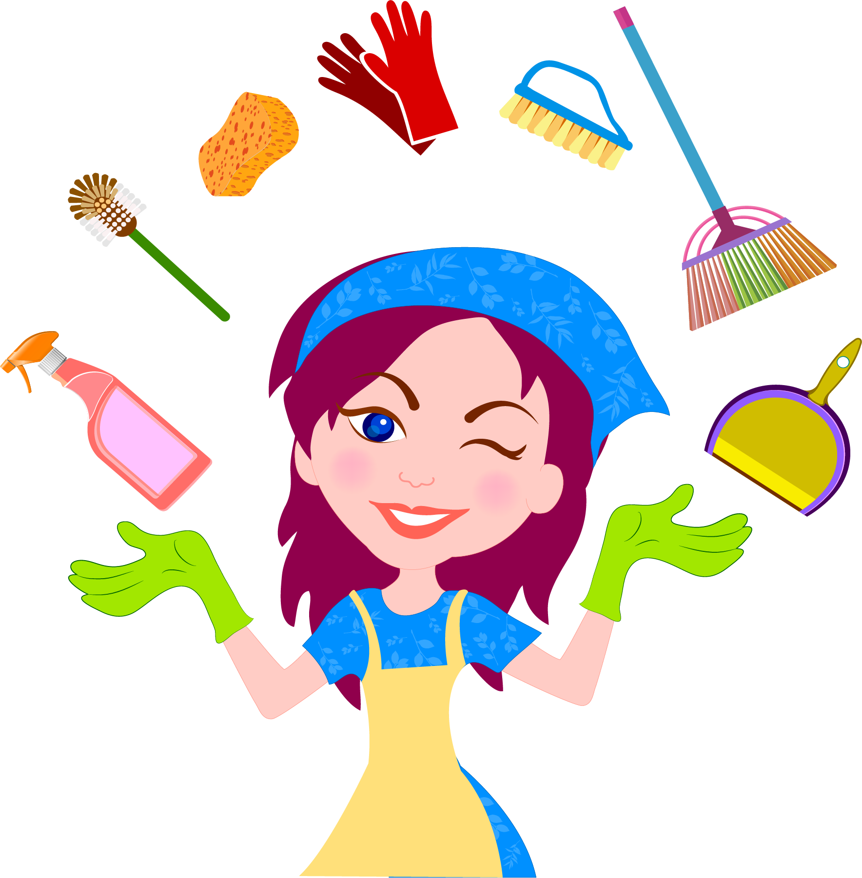 banner royalty free stock Cleaner clipart housekeeper. Download housekeeping service house.