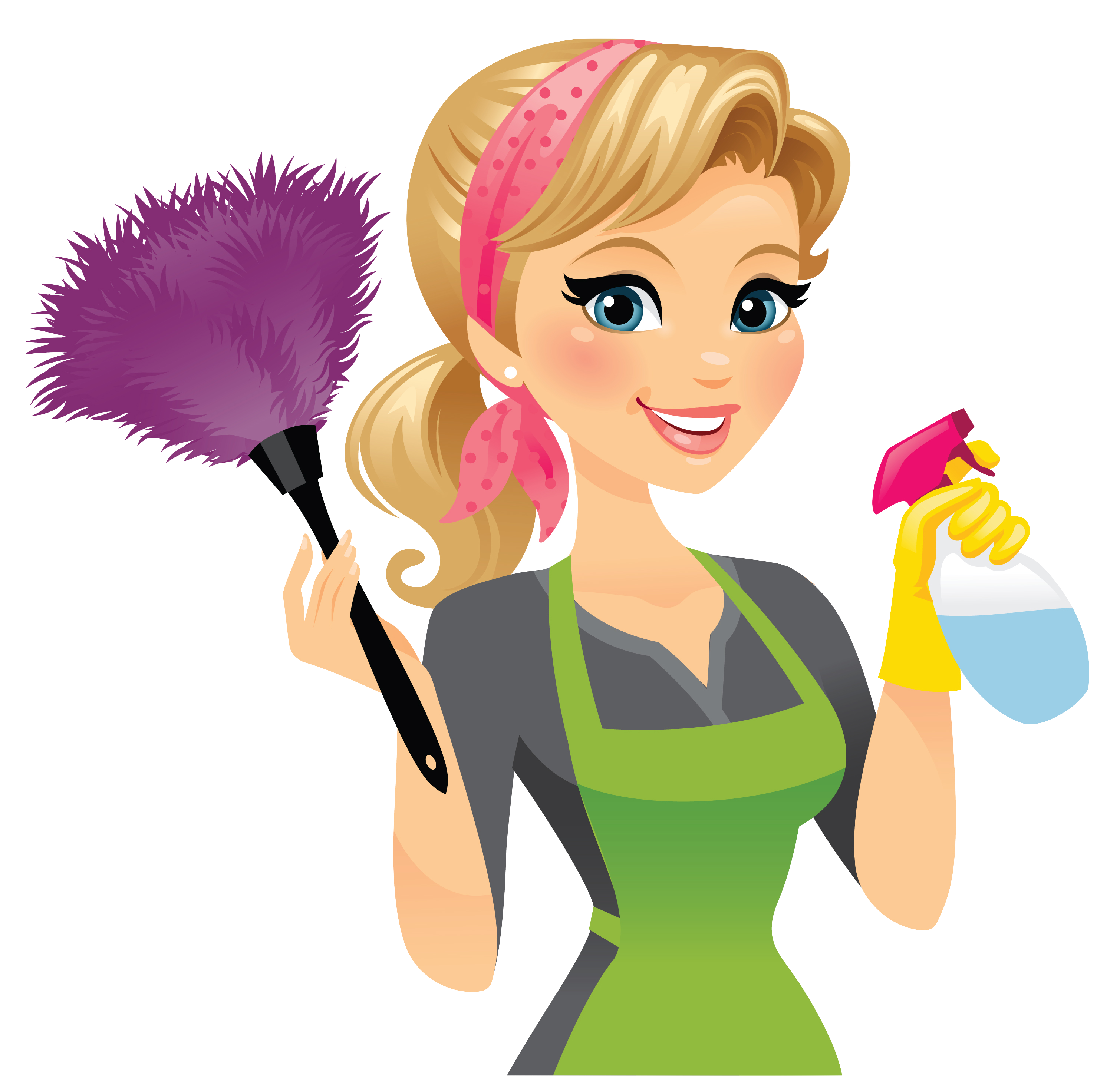 clipart stock Cleaner clipart housekeeper. Maid service cleaning clip.