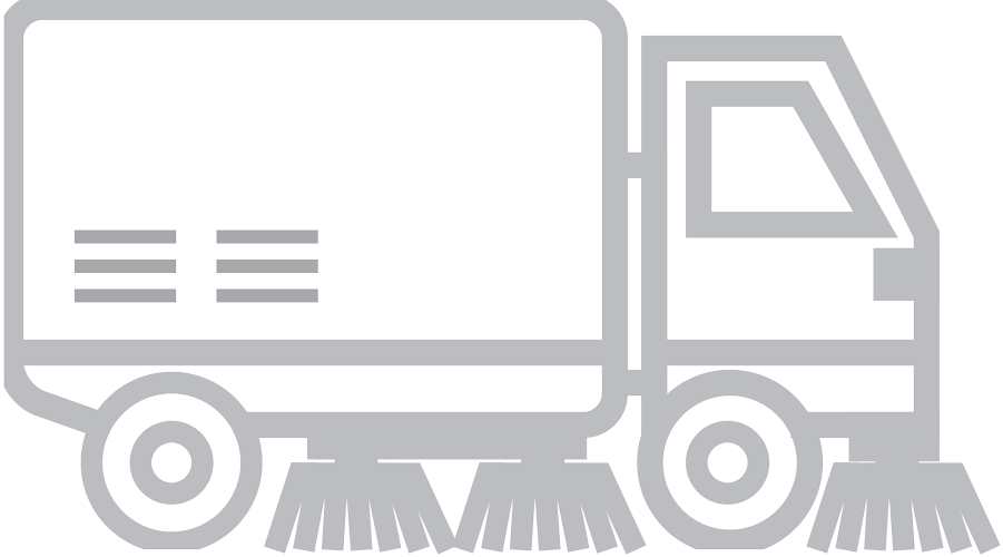 clipart black and white library Professional property maintenance clean. Cleaner clipart street sweeper