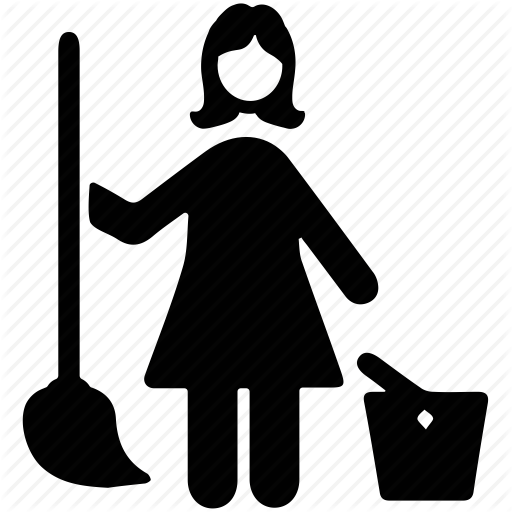 svg download Cleaner clipart street sweeper. Janitor png black and