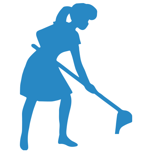 clipart freeuse Cleaner clipart sweeping. House cleaning silhouette at.