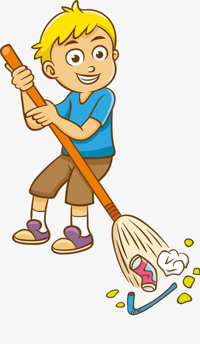 graphic transparent library Cleaner clipart sweeping. Cleaning picture .