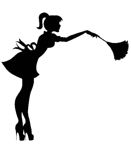 picture black and white Cleaning clipart black and white. Lady silhouette at getdrawings.