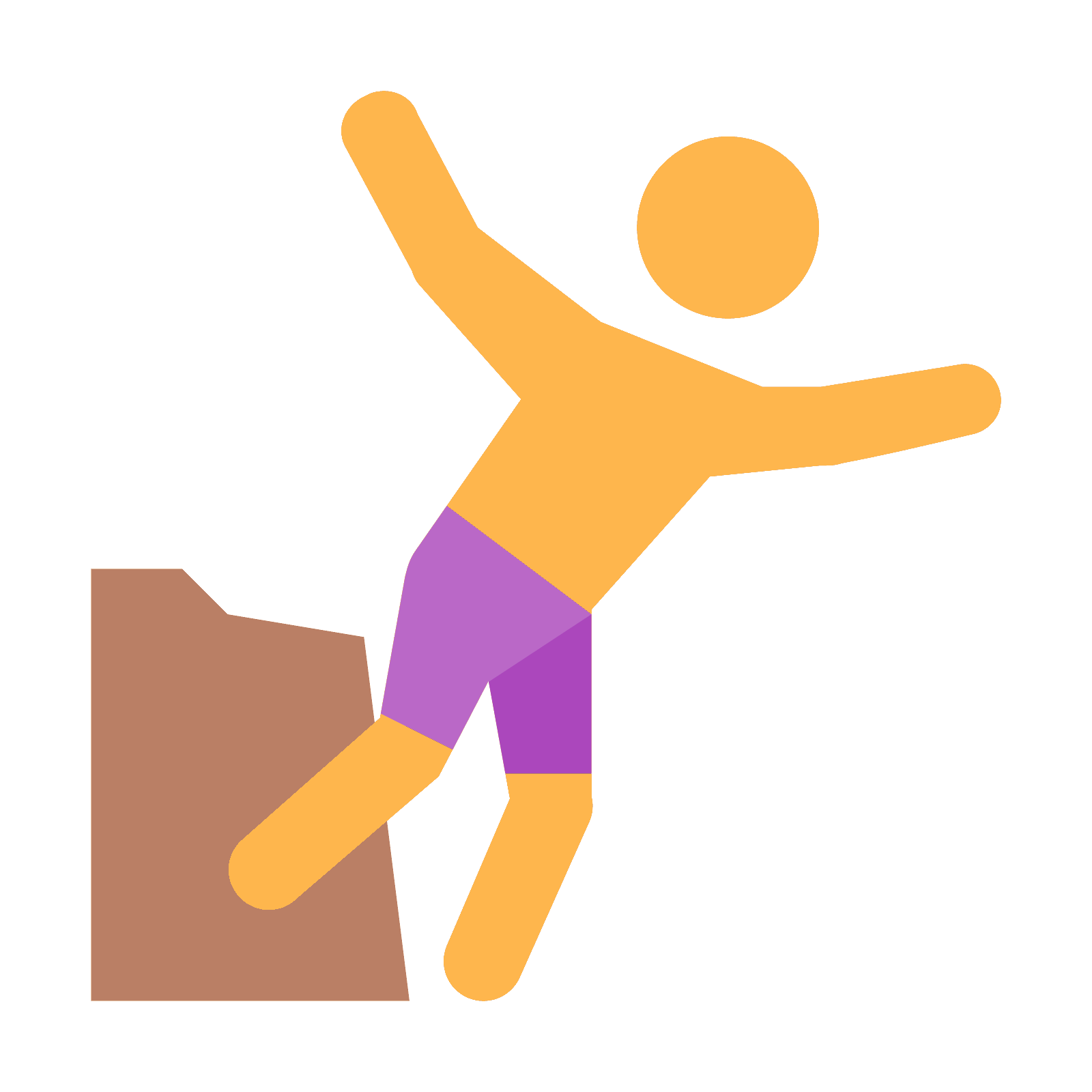 black and white library  cliff png icon. Jumping clipart feeling good