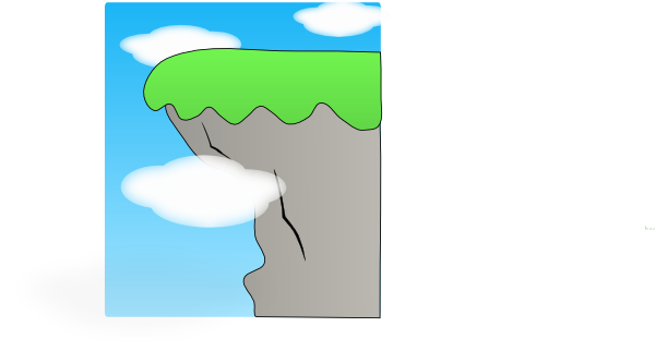picture transparent Cliff clipart escarpment. Clouds over the cliffs.