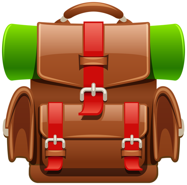 graphic free library Climber clipart backpacker. Brown tourist backpack png.