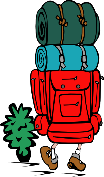 svg free Backpack from behind pinterest. Climber clipart backpacker.