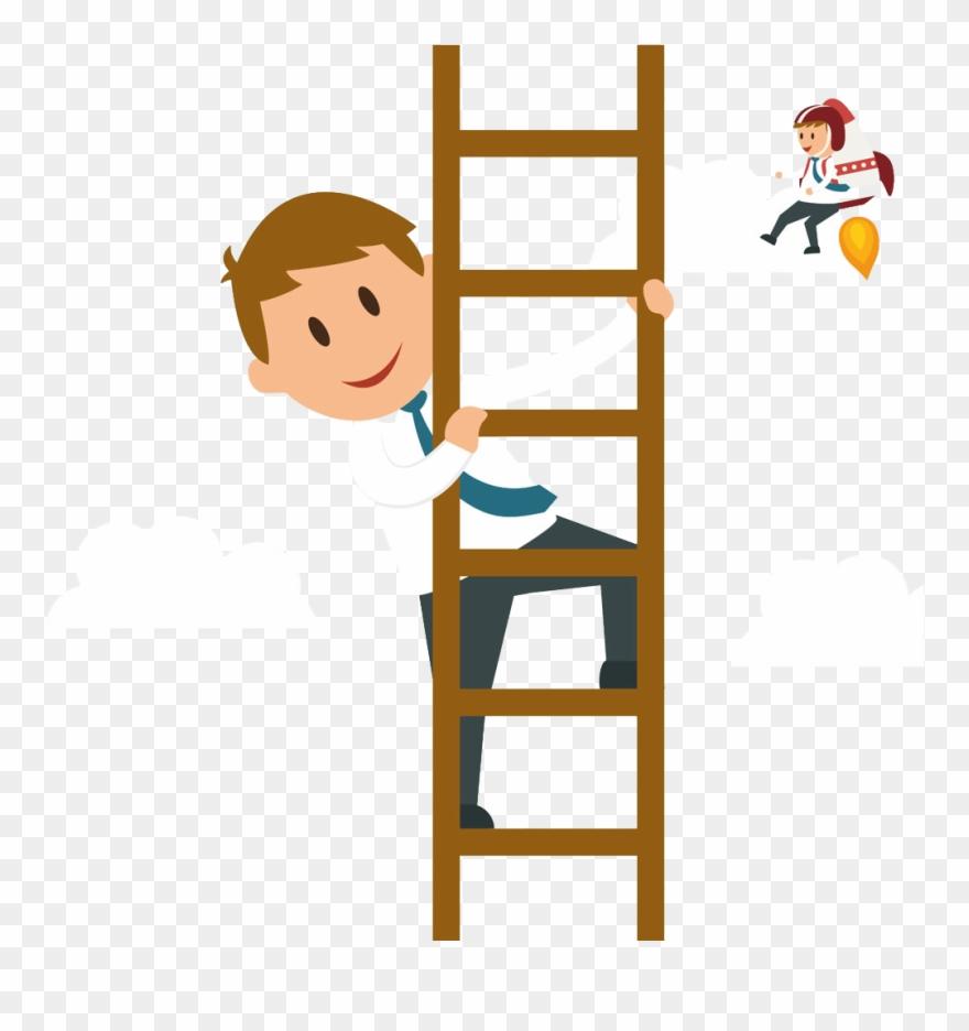 clipart transparent Svg climb cartoon png. Climbing a ladder clipart