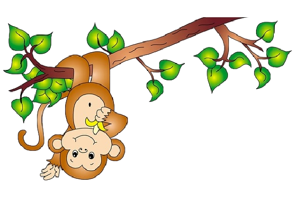 graphic stock Monkey clipart climb. On a vine cartoon.