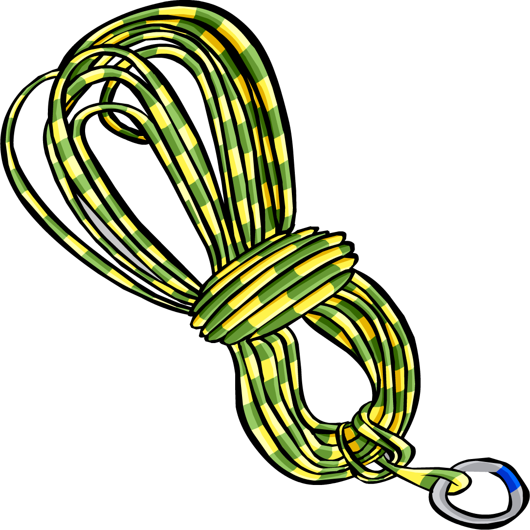 picture freeuse stock Yellow Climbing Rope