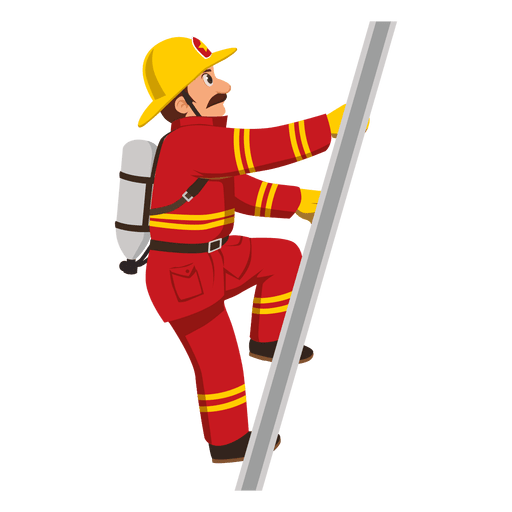 free library Firefighter transparent png svg. Climbing ladder clipart