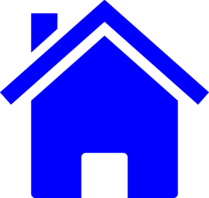 jpg free library Vector blue simple. House clip art at
