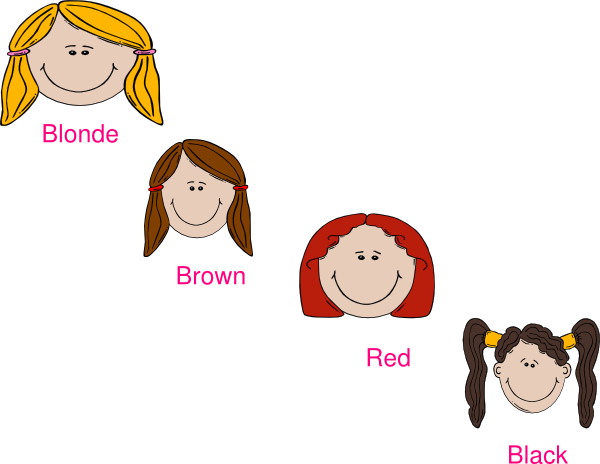 svg free library Clip clipart hair. Colours art at clker.