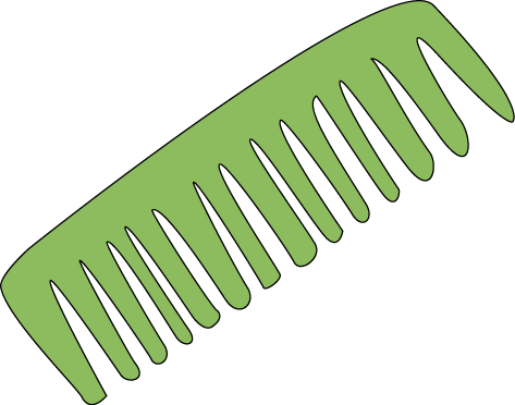 graphic royalty free Clip clipart hair. Comb art image panda.