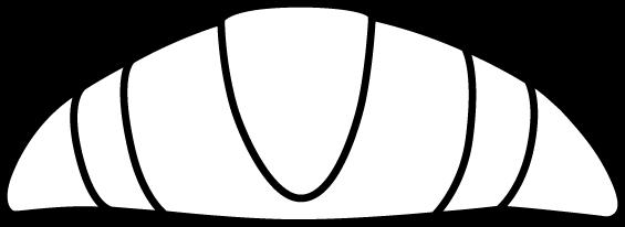 clip royalty free White croissant art. Black clip large