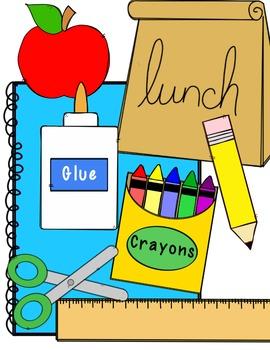 graphic download Clip clipart teacher supply. Freebie school art .