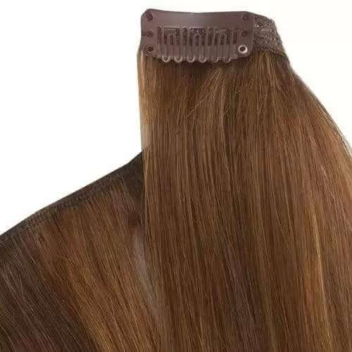 library In hair . Clip extensions