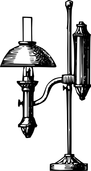 vector royalty free Antique Desk Electric Lamp Clip Art at Clker