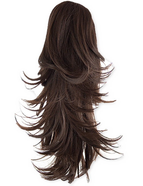 royalty free stock Gw pearl womens straight. Clip flick hair extensions