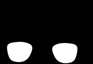 svg black and white library Black Eye Glasses Clip Art at Clker