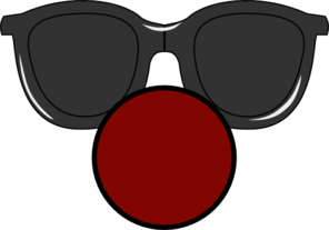 picture library Clown Nose With Clear Glasses Clip Art at Clker
