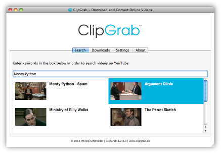 picture ClipGrab is a free and easy to use downloader and converter for