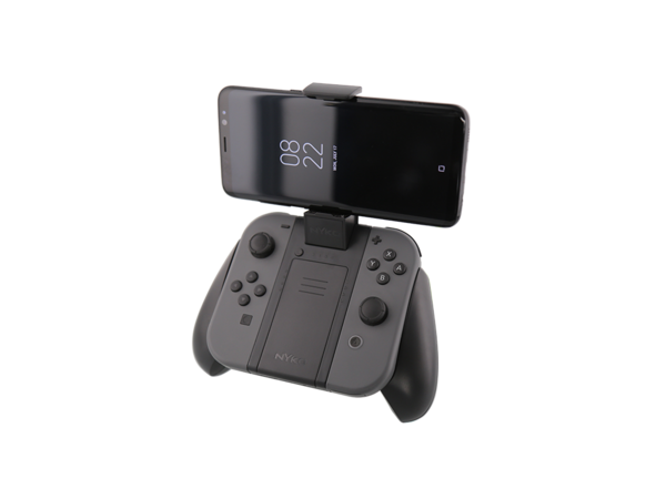 clip black and white stock Power for nintendo switch. Clip grip
