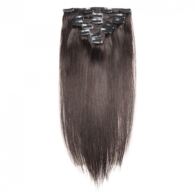 image royalty free stock Clip hair. Straight extensions aer soft