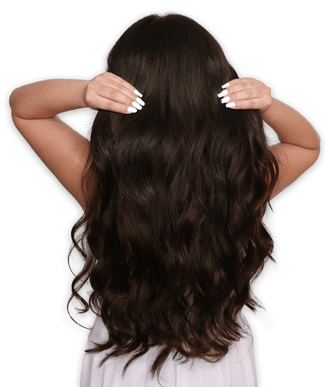 jpg stock Clip hair.  human in extensions