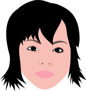 svg free stock Asian Girl With Short Hair Clip Art at Clker