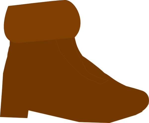 graphic freeuse library Brown Boot Clip Art at Clker